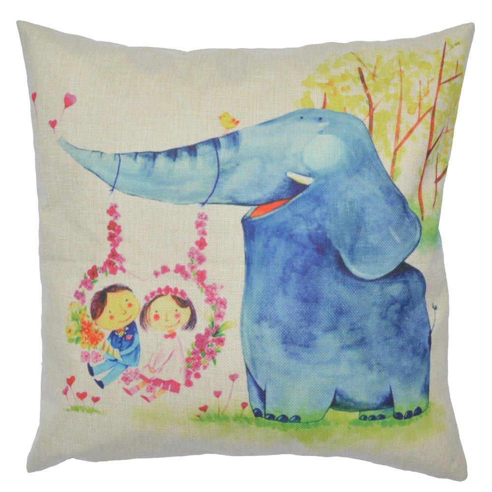 Amazon.com: WayHomeDecor Cotton Linen Decorative Throw Pillow Case ...