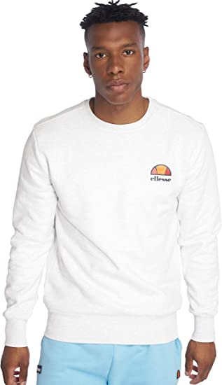 ellesse Mens Cotton Crew Neck Print Logo Sweatshirt Dress Blue Sweat Top