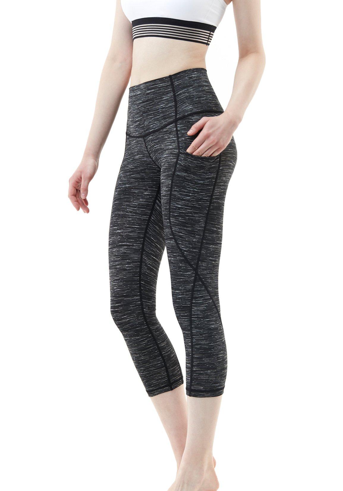 Best Rated In Womens Yoga Pants Helpful Customer Reviews Fashion Big Size Valerie Stripe Navy 3xl Tesla High Waist Tummy Control W Hidden Pocket Fyc32 Fyc34 Fyc36