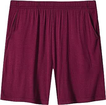 AIRIKE Women's Pajama Shorts Elastic Waisted Lightweight Woven Sleep Shorts Stretch Lounge Boxer Shorts with Pockets, 3 Pack