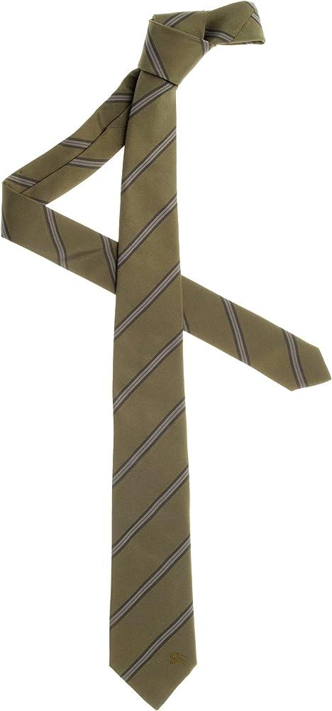 Burberry - Corbata - para hombre verde militar Talla única: Amazon ...