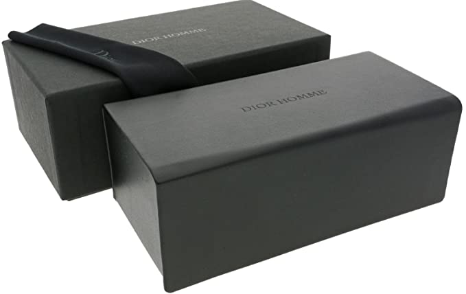 f1a7d641a1a3 CHRISTIAN DIOR Homme Large Sunglasses Case + Lense Cloth Boxed   Amazon.co.uk  Clothing