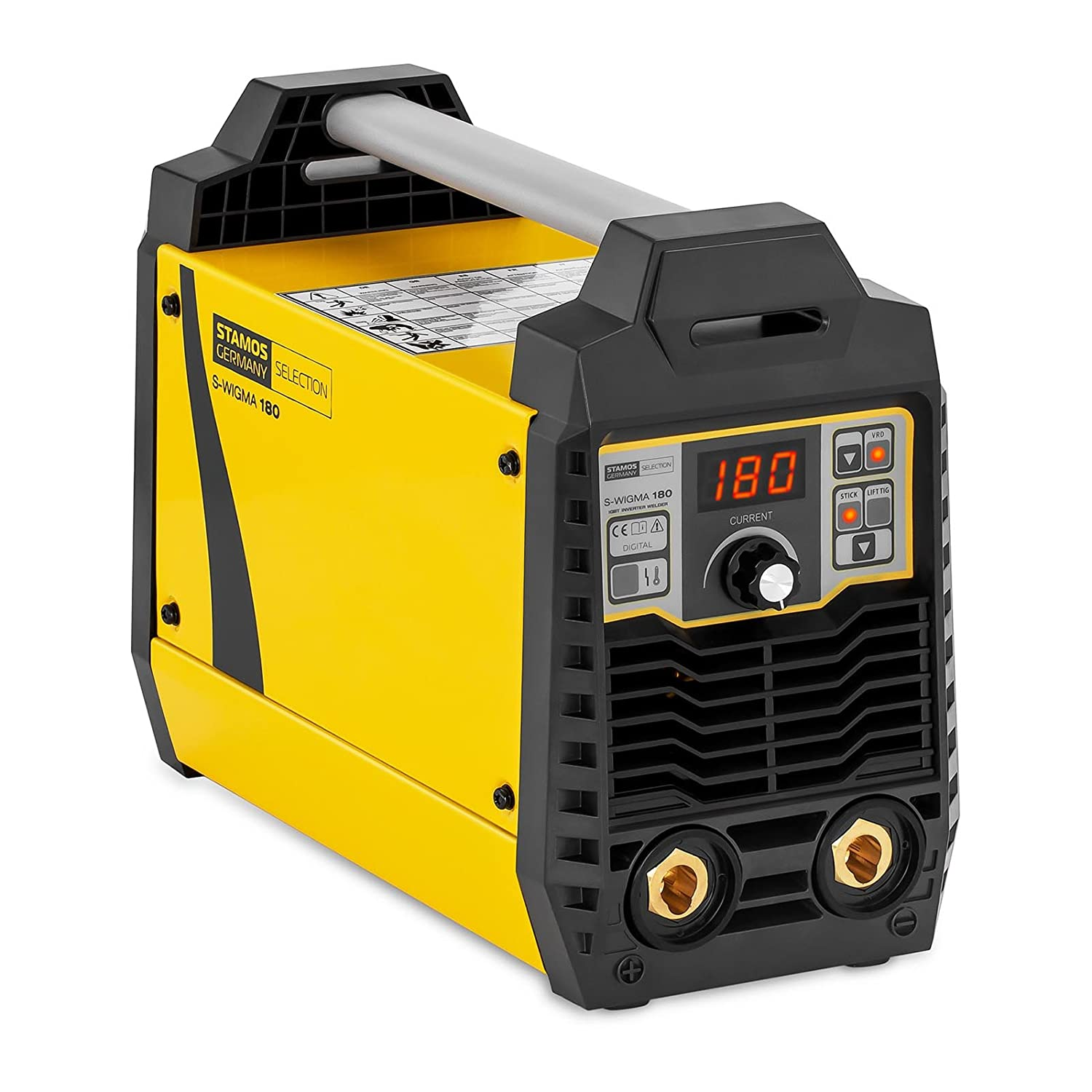 Stamos Welding Soldador MMA S-WIGMA 180 (180 A, Panel de control digital Pantalla digital, Hot Start, Anti Stick, Inverter IGBT): Amazon.es: Bricolaje y ...
