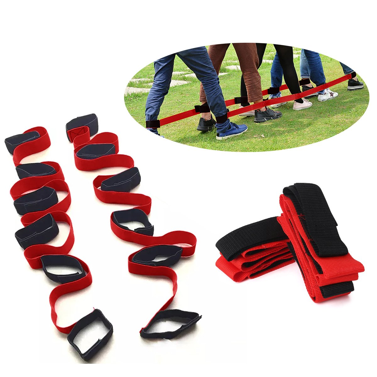 5 Legged Race Bands, 2 Pcs for Team Game Outdoor- Group Games - BBQ Party Game, Family Party Game Kids/Adults by PAMISO