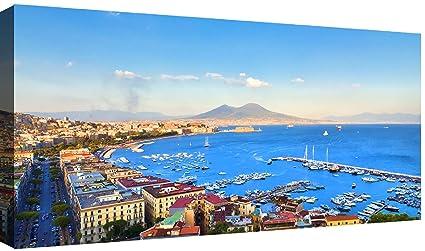 Quadri Moderni Soggiorno XXL 120x60 cm Golfo di Napoli 3 Stampa su ...