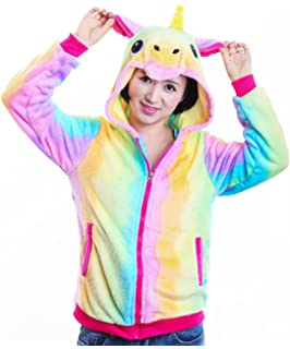 5a221df3d85 AooToo Unicorn Hoodie Sweatshirt for Girls Juniors Kids Cartoon Costume  Jackets