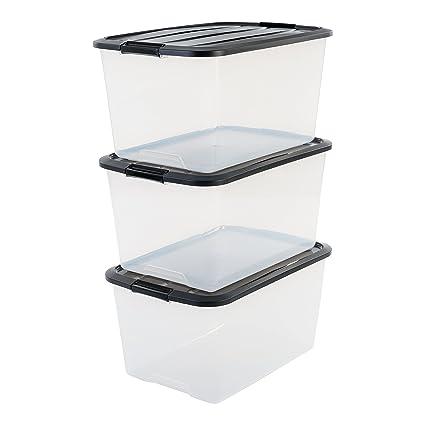 Iris – Juego de cajas con Comercio y tapa, sistema de ordenación, plástico,