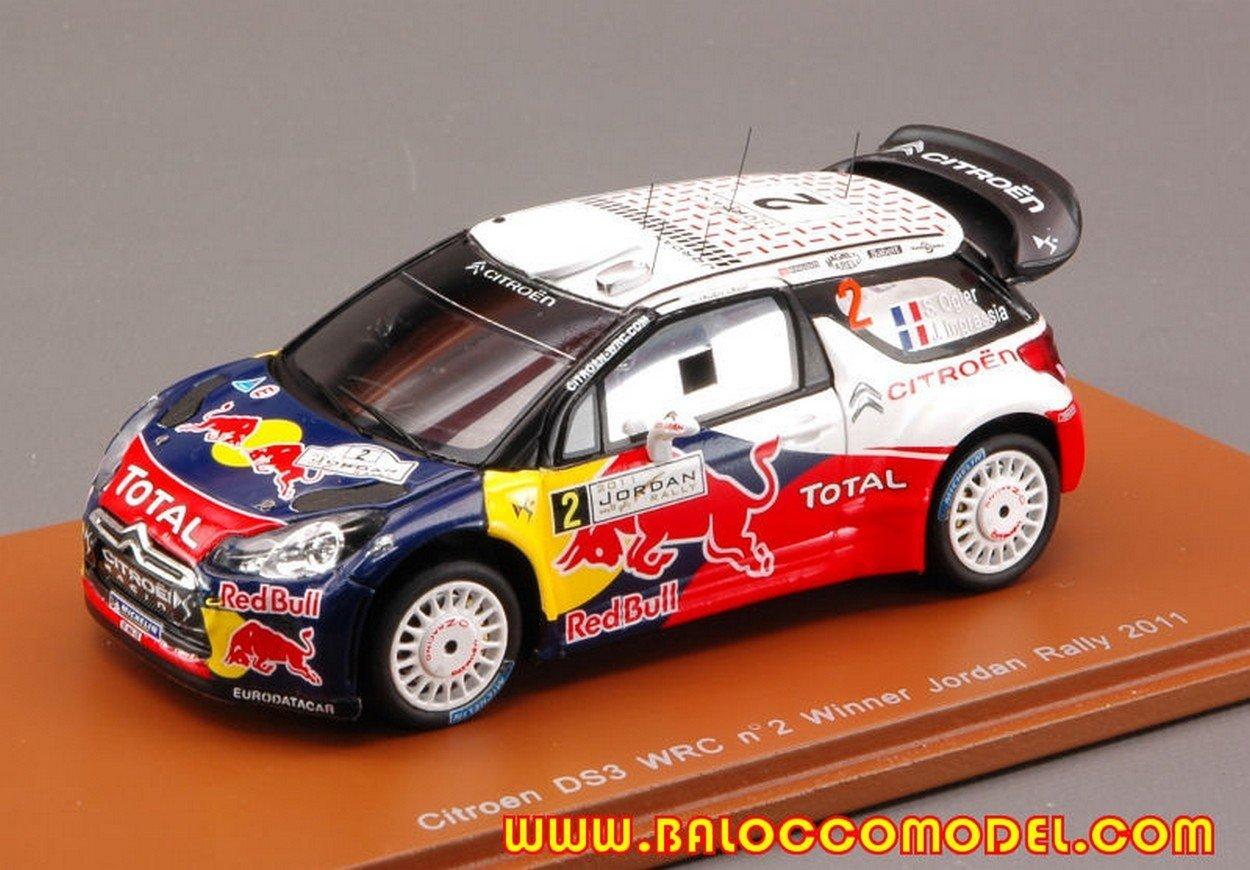 envío gratis Spark Model S3309 Citroen Citroen Citroen DS3 WRC N.2 Jordan Rally 2011 1:43 Die Cast Model  descuentos y mas