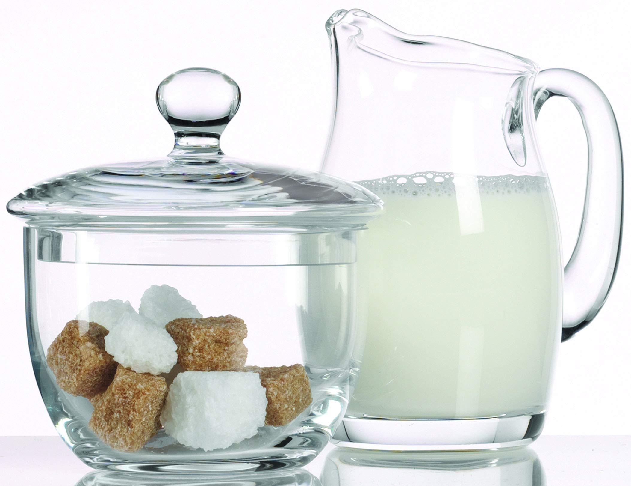 Luigi Bormioli Michelangelo Sugar and Creamer Set by Luigi Bormioli