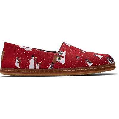 TOMS Women's Classics Red Save The Children Snowman 10014914 | Loafers & Slip-Ons