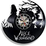 Handmade Solutions Alice in Wonderland Vinyl Record Wall Clock- 12 Inches Vinyl Clock with Silent Quartz Mechanism, 1 AA Battery Required (not Included)
