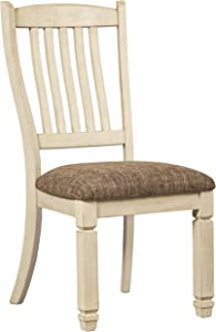 Signature Design by Ashley Bolanburg Dining Upholstered Side Chair, 1-Count, White