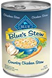 Blue Buffalo Country Chicken Stew for Dogs, (Pack of 12 12.5-Ounce Cans)