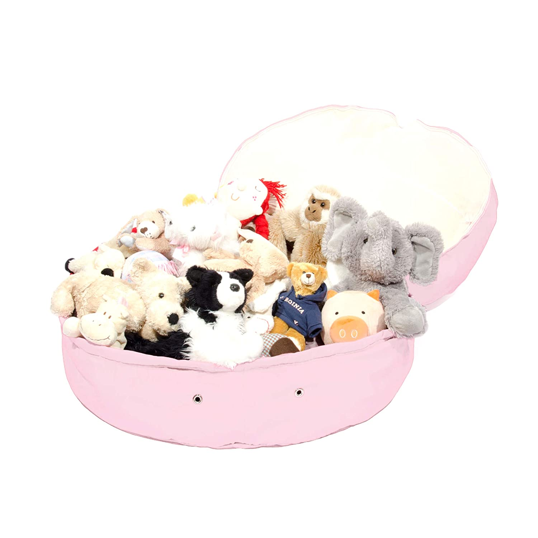 Mimish Corduroy Metallic Faux Fur Storage Bean Bag l Great Bean Bag Chair for Kids Dorms and Nurseries-Pale Lilac