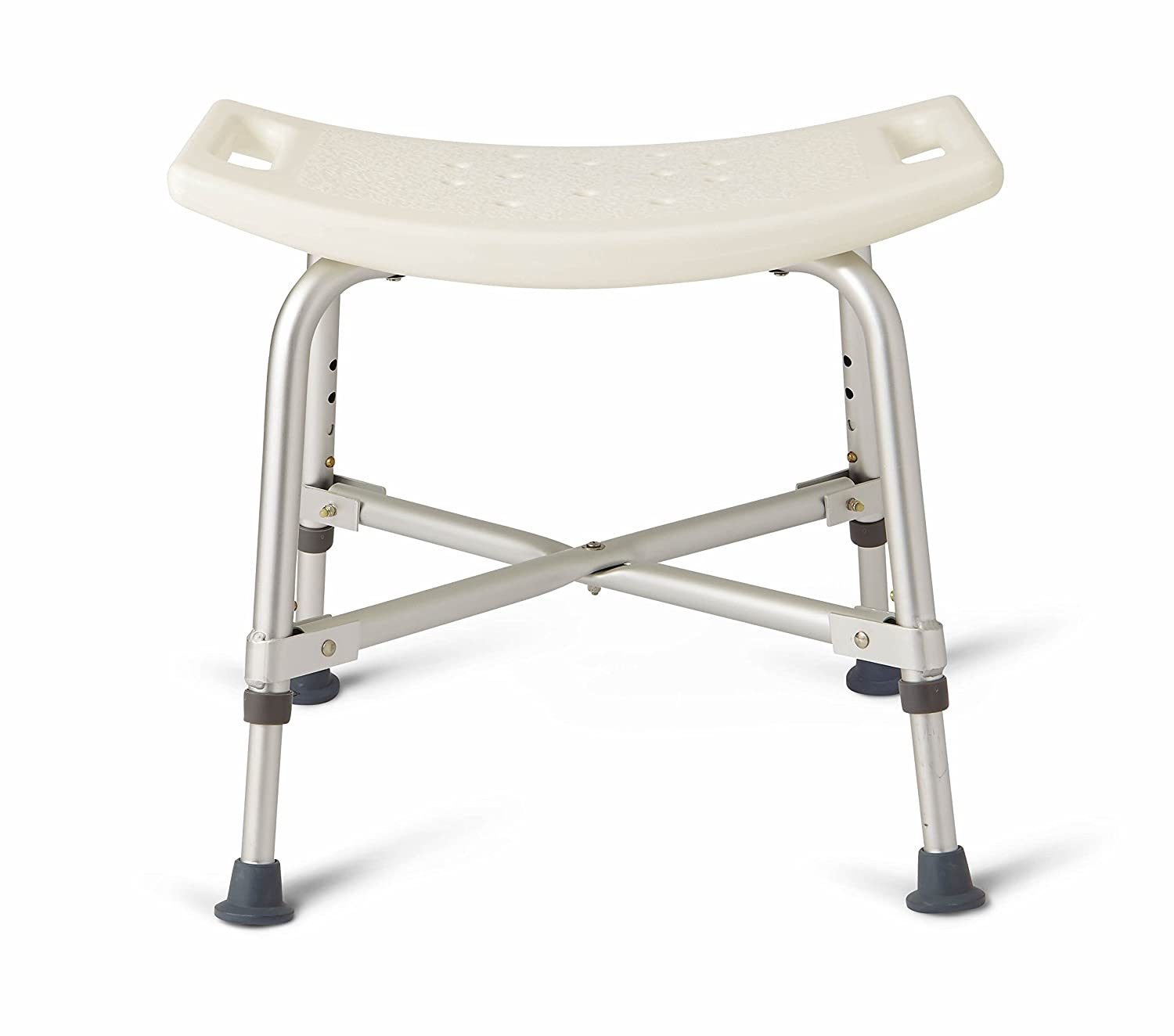 Amazon.com: Medline Heavy Duty Shower Chair Bath Bench without Back ...