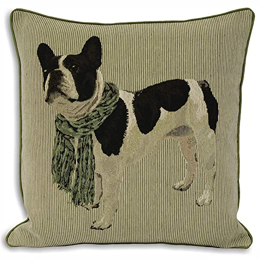 Amazon.com: Bulldog francés Cal Cojín: Home & Kitchen