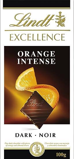 Lindt - Tableta de chocolate - con naranjas - (4 x 100g) - Pack de 4 Unidades