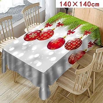 Christmas Table Cloth Red Poinsettia Tablecloth Polyester Christmas Table  Runner Christmas Balloons Print Christmas Tablecloth For