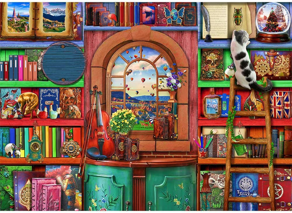 /… 27.6x 19.7 Jigsaw Puzzles 1000 Pieces for Adults Bizarre Bookshelf 1000 Piece Jigsaw Puzzle Home Puzzle Educational Games