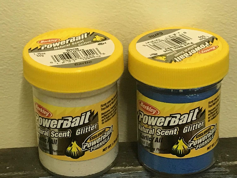Berkley Powerboat Natural Scent Glitter GARLIC multi packs included