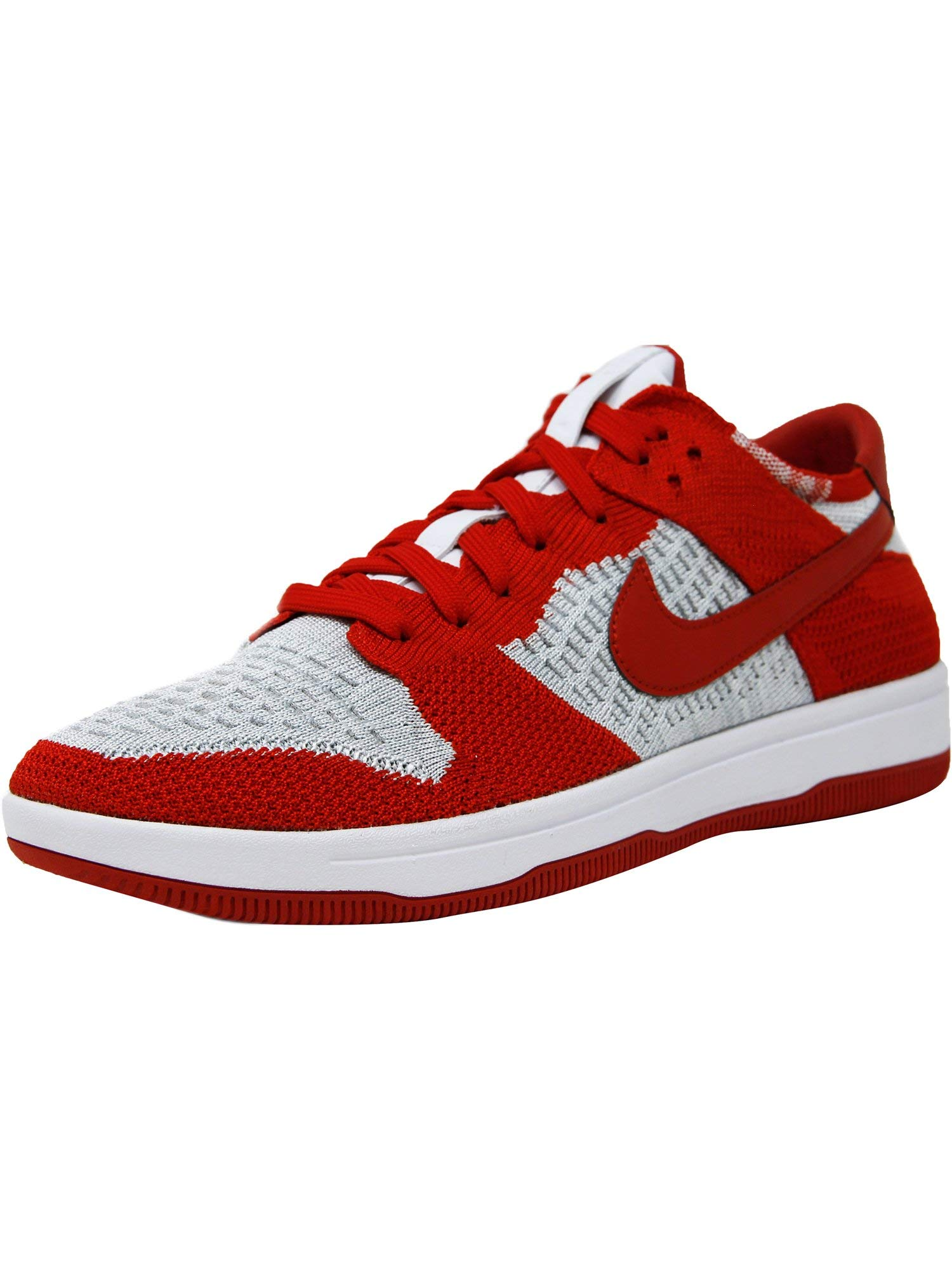 Galleon - Nike Men s Dunk Flyknit University Red White-Wolf Grey Ankle-High  Basketball Shoe - 8.5M 1acb1a093