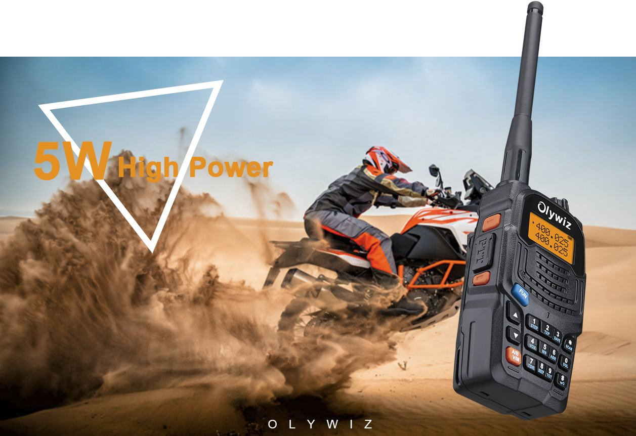 Walkie Talkie Long Range 5W Olywiz UV6S Handheld two way radio High//Low Power Switchable 128 channels 2 PACK
