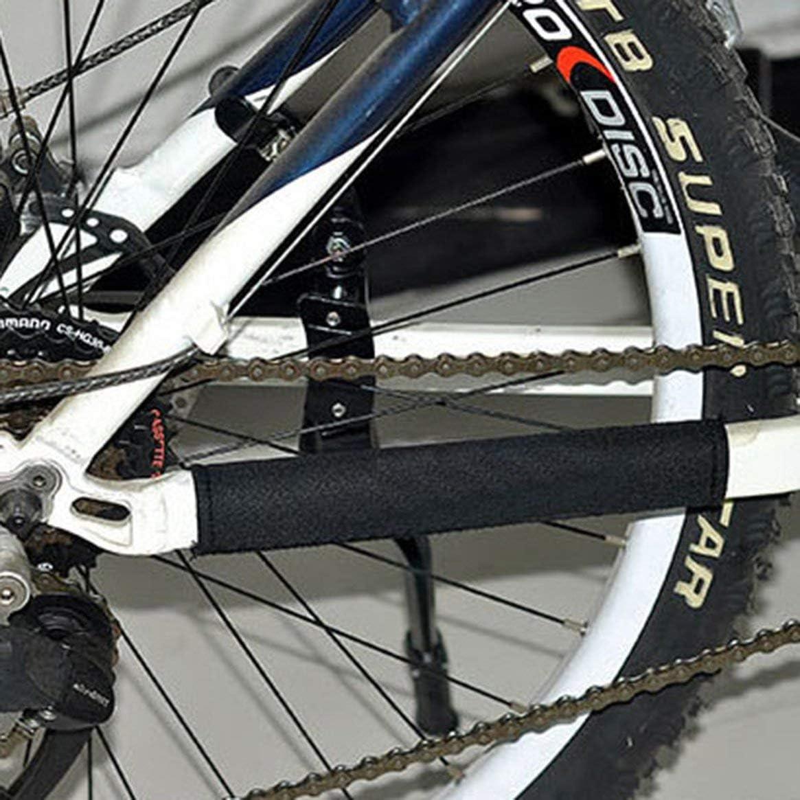 Nero Mountain Bikes Biciclette da Strada Protezione della Catena Scudo Diving Tessuto Proteggi Parti della Ruota della Catena Protezione per la Cornice Accessori per Bici