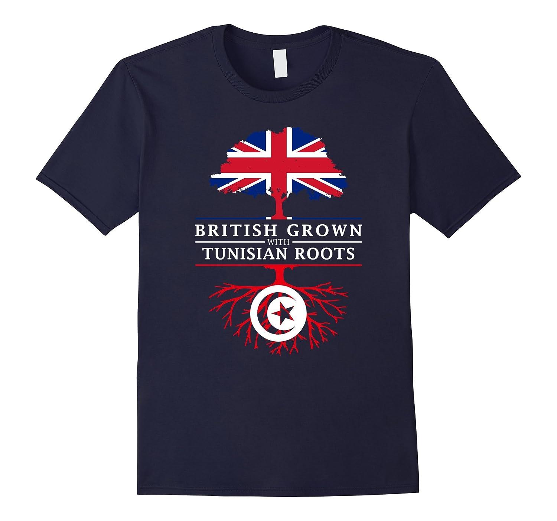 British Grown with Tunisian Roots T-Shirt - Tunisia Shirt-CD