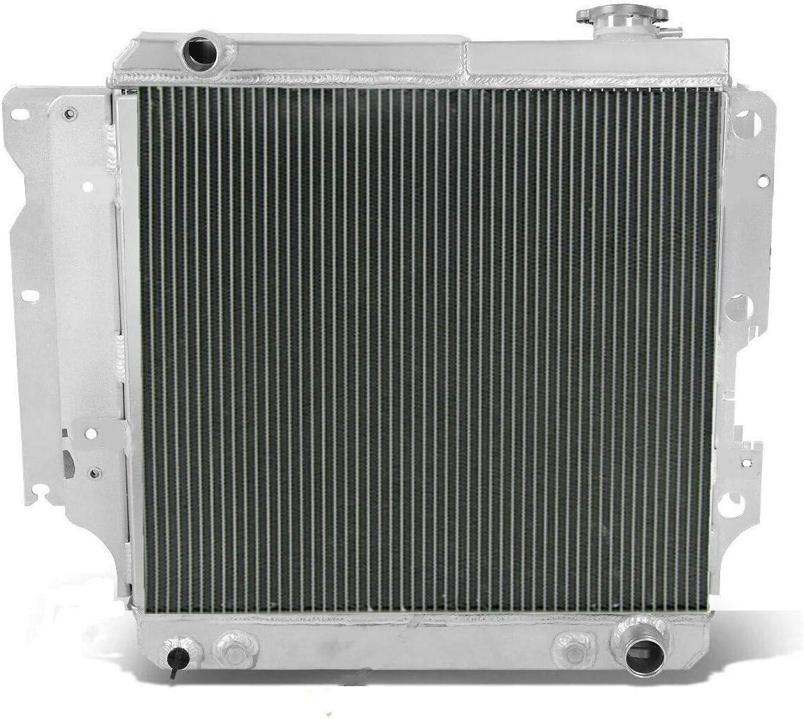 Aluminum Radiator for Jeep Wrangler TJ YJ Chevy SBC V8 Engine Swap 1987-2006