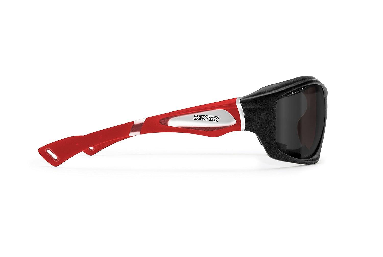 Polarisierten Windschutz Sport Sonnenbrillen mit Hydrophobe Gläser für Radfahren - Skifahren - Laufen - Wassersport - Kitesurf by Bertoni Italy - P1000 Sportbrillen Polarisierte grau) Bertoni iwear Italy