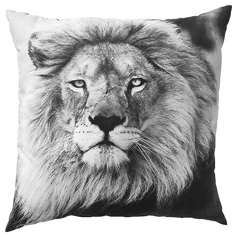 IKEA ASIA URSKOG - Cojín de león, Color Gris: Amazon.es: Hogar