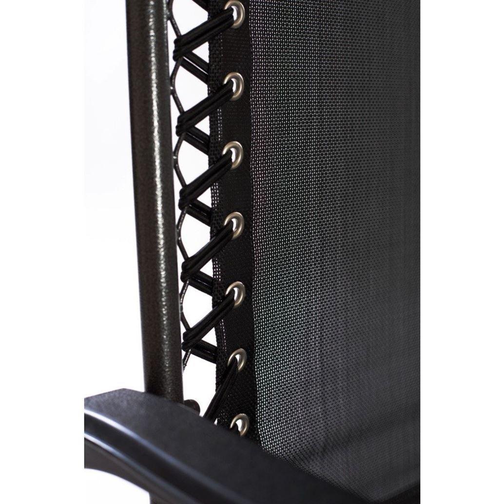 Oypla Folding Reclining Garden Deck Chair Sun Lounger Zero Gravity