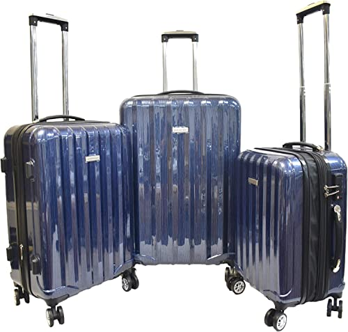 Karriage-Mate Hardside Expandable Luggage with Spinner Wheels, TSA Lock Blue