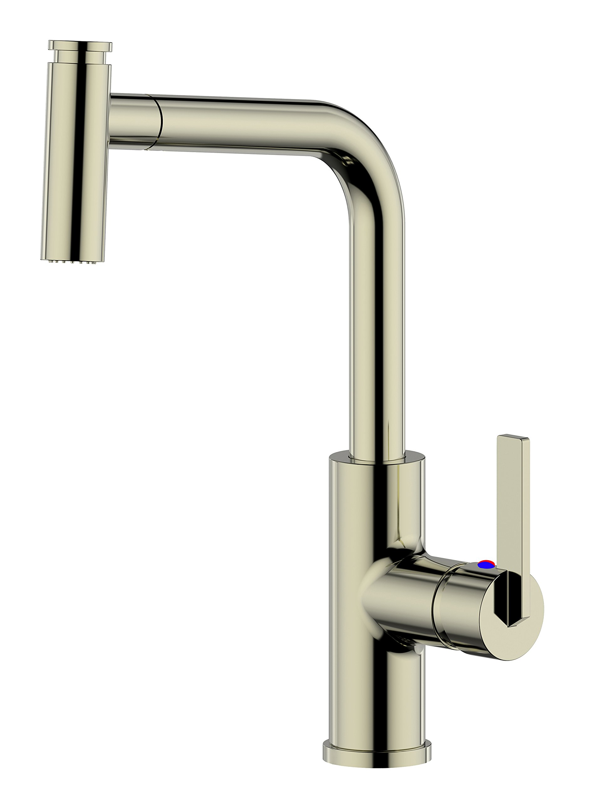 Derengge KF-8205-SS Single Handle Pull-out 1 Hole Kitchen Faucet cUPC NSF AB1953 Lead Free Brushed Nickel