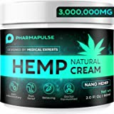PHARMAPULSE Pain Relief Hemp Cream - Relieves Arthritis Pain, Muscle and Joint Pain, Lower Back and Knees Pain - Anti Inflamm
