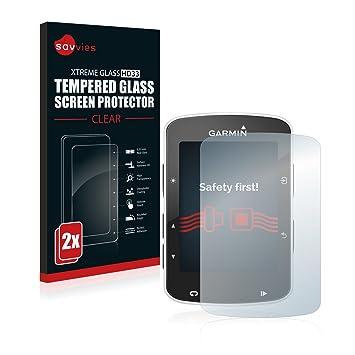 savvies Cristal Templado Compatible con Garmin Edge 820 (2 ...