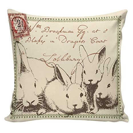 Amazon.com: Athena Bacon - Funda de almohada de algodón para ...