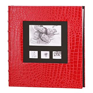 Collecting Storage Albums, PU Leather Cover Large-Capacity Family Children's Growth Album Album Photo (Color : RED) PU Leather Cover Large-Capacity Family Children's Growth Album Album Photo (Color : RED) HGXC
