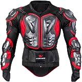 Per Chaqueta de Armadura Hombre para Motocross Esquí CS y Montar Bici Protector para Deportes al Aire Libre (Rojo, M)