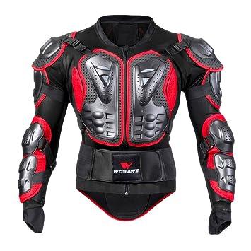Per Chaqueta de Armadura Hombre para Motocross Esquí CS y Montar Bici Protector para Deportes al Aire Libre (Rojo, M): Amazon.es: Coche y moto