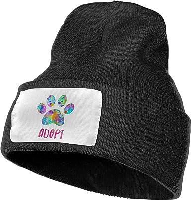 Dog Paw Skull Cap Men /& Women Knit Hats Stretchy /& Soft Beanie