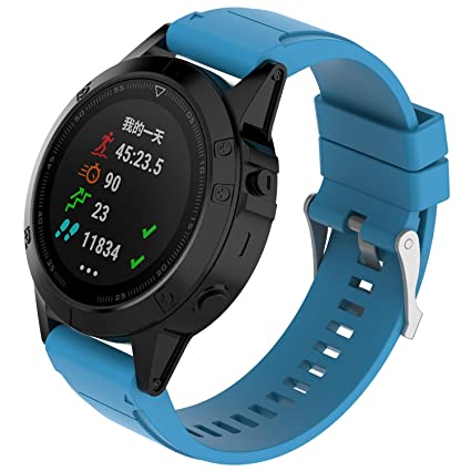Amazon.com: I-SMILE Garmin Fenix 5X Quick fit 26mm Band ...