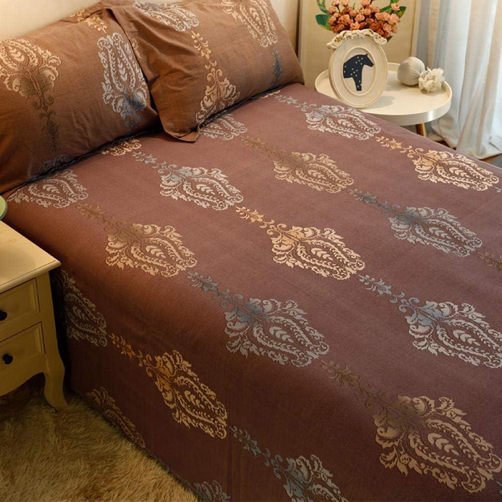 XNSY Couvre lit matelass/é de Tissu en Coton Australien Double /épaisseur-Amour Feuilles de pon/çage a/_200cmx230cm