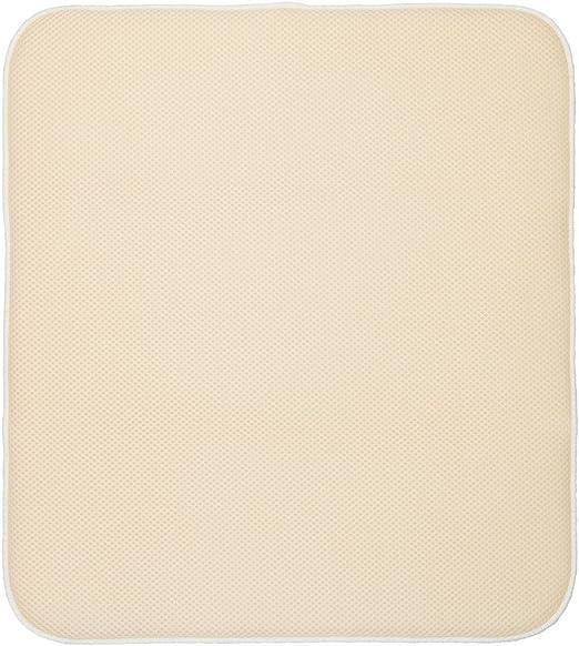InterDesign iDry Absorbent Kitchen Countertop Dish Drying Mat Pewter//Ivory 24 x 18