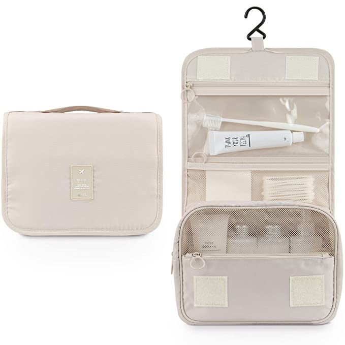 51afae6134677d Amazon.com: Makeup Bag,Mossio Unisex Multifunction Bottles Grooming Shampoo Travel  Case TSA Approved Beige: Clothing