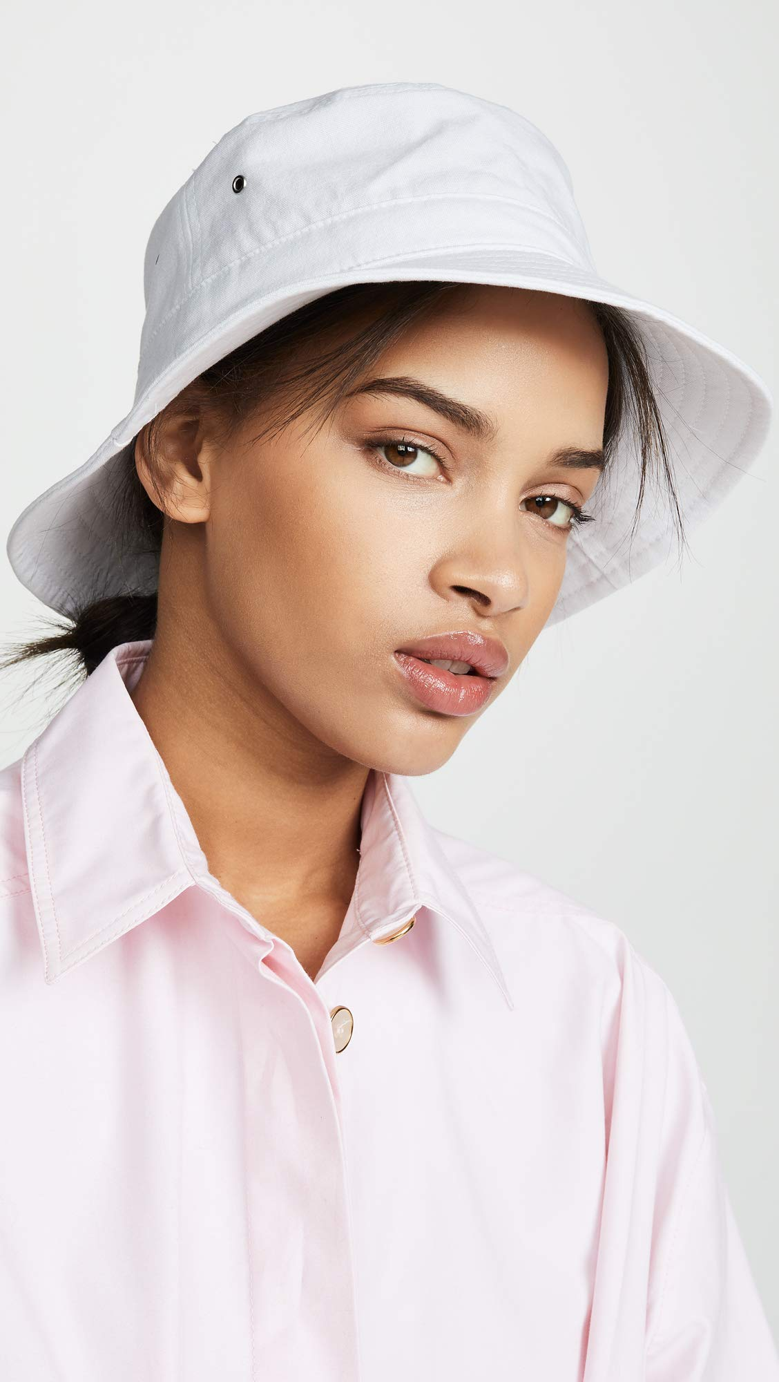 Hat Attack Women's Perfect Bucket Hat, White, One Size by Hat Attack (Image #2)