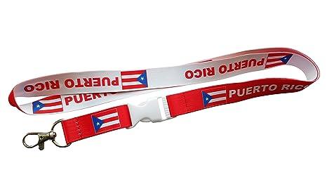 Amazon.com: Bandera de Puerto Rico Reversible Rojo Cordón ...