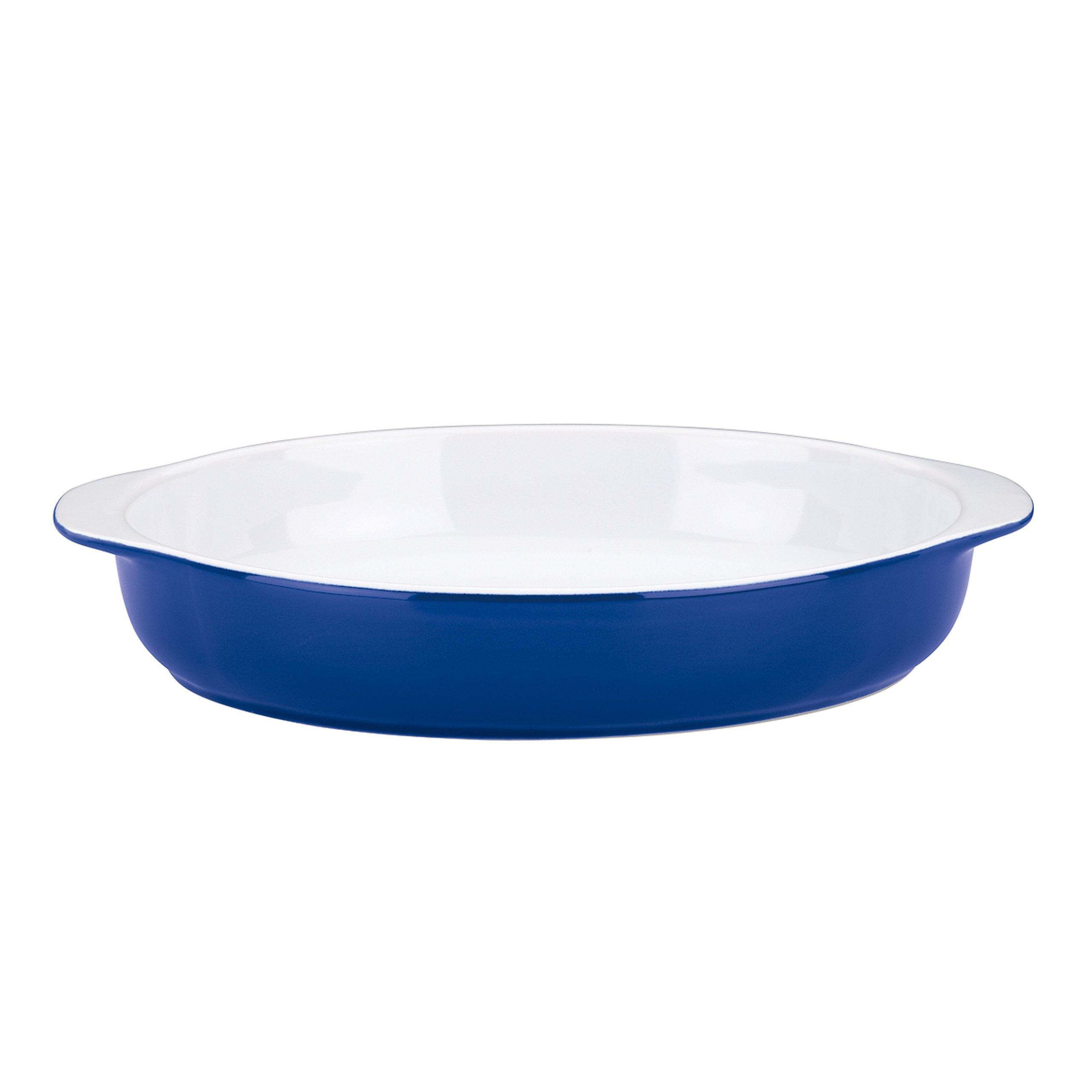 Mario Batali Stoneware 11.5-Inch Oval Au Gratin by Dansk, Cobalt Blue