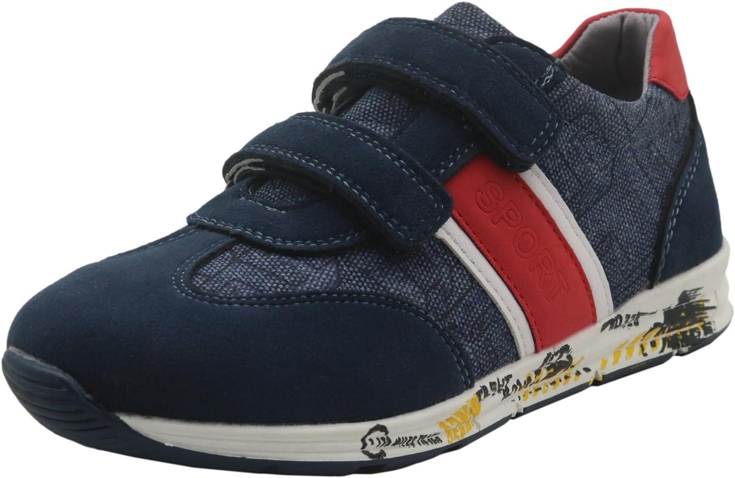 Non-Slip Boys Casual Canvas Sneaker Shoes Color : Darkblue , Size : 2.5 M US Little Kid Durable Little Kid//Big Kid