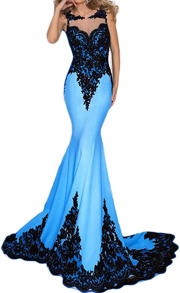 Amazon.com: OYISHA Womens Lace Mermaid Evening Dress Mermaid
